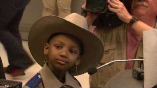 6-year-old battling rare cancer becomes a Texas State Trooper