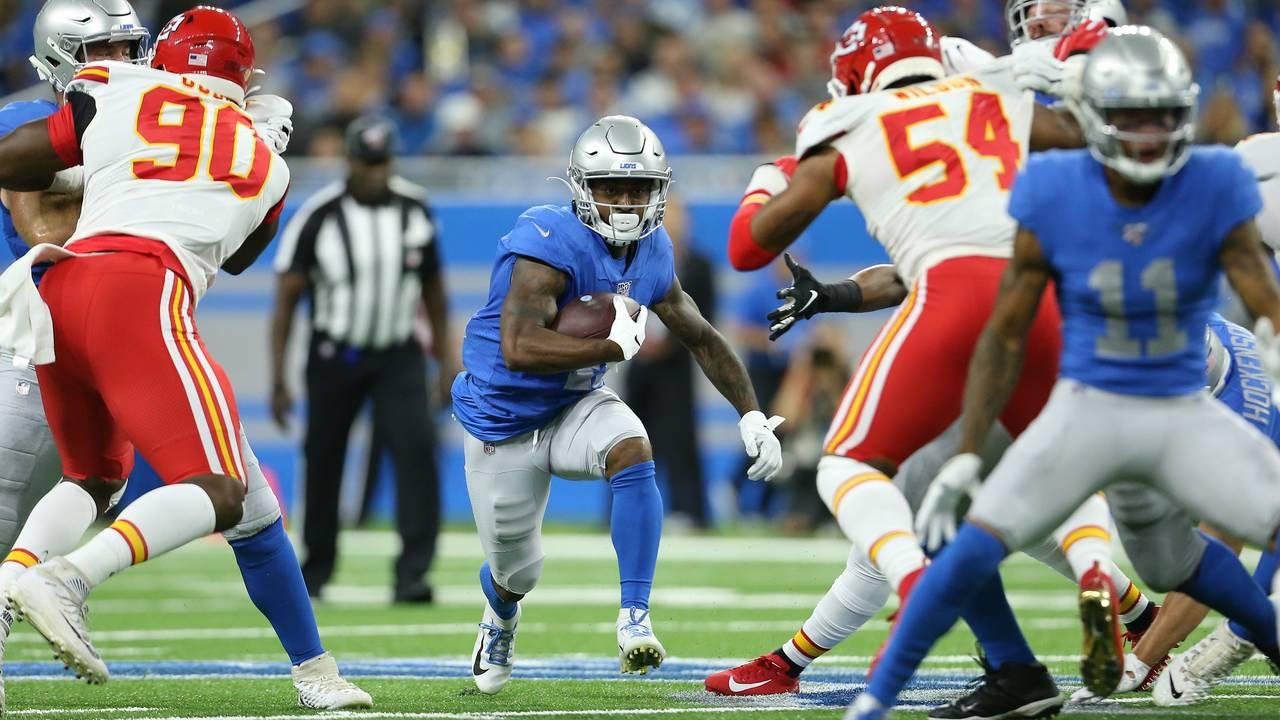 Kerryon Johnson Detroit Lions vs Chiefs 2019