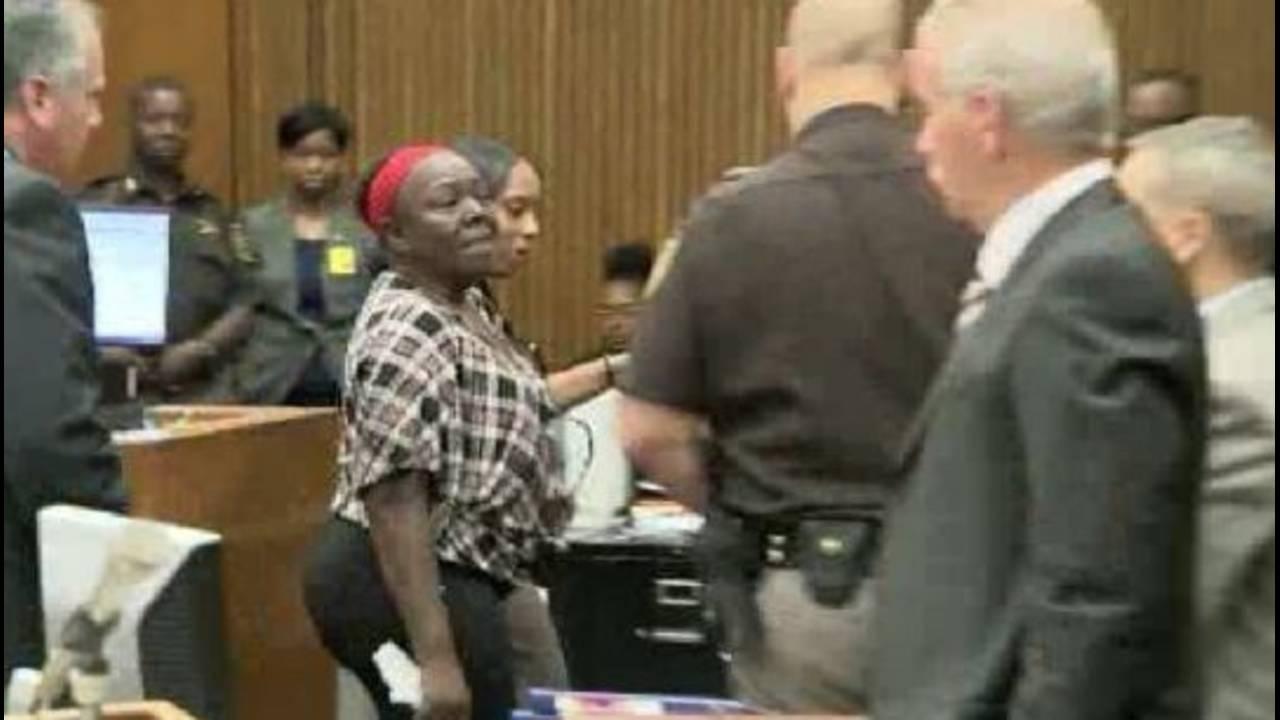 Mertilla Jones escorted out of court_28224688