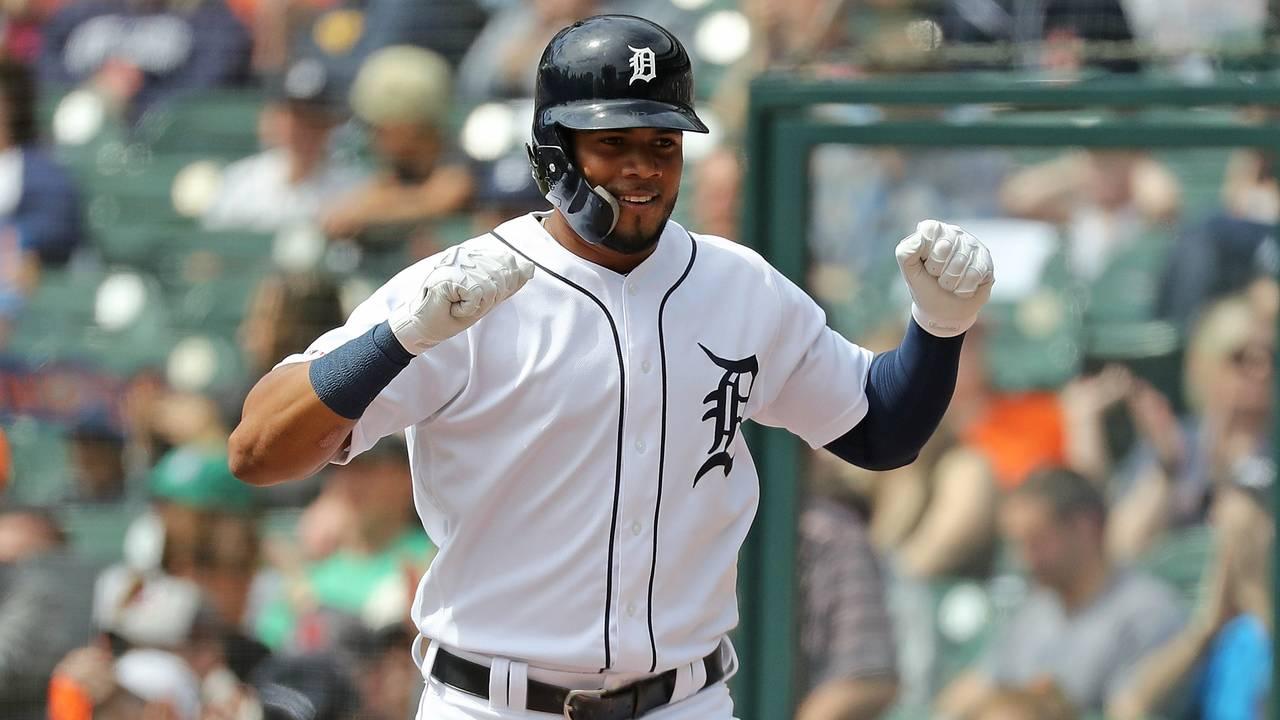 Jeimer Candelario happy yay Detroit Tigers