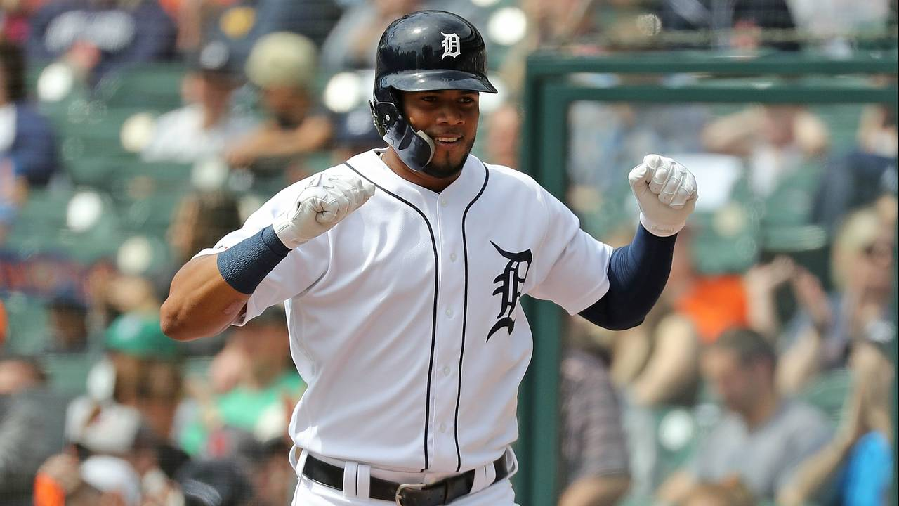 Jeimer Candelario happy yay Detroit Tigers