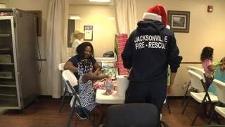 Jacksonville firefighters giving back to homeless families for Christmas