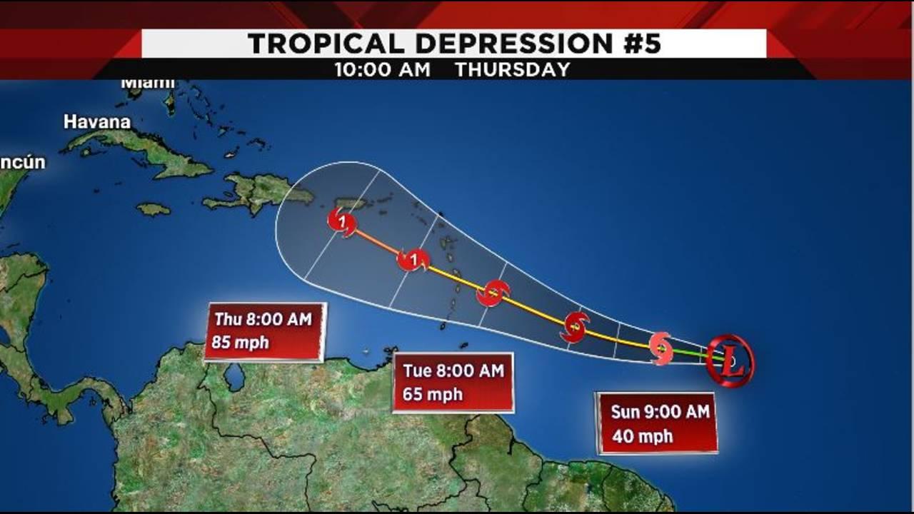 Tropical depression 5 8-24-19