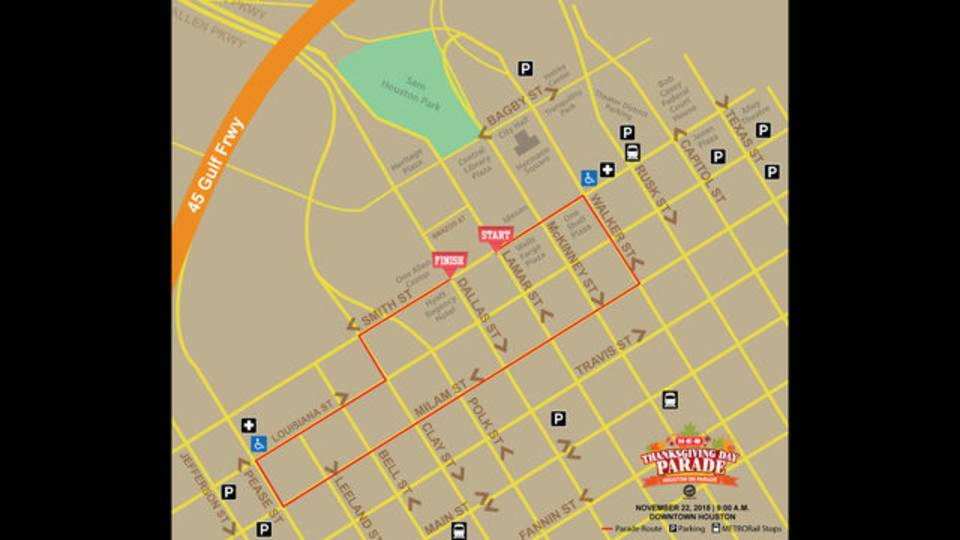 Parade route maps 11-21-18