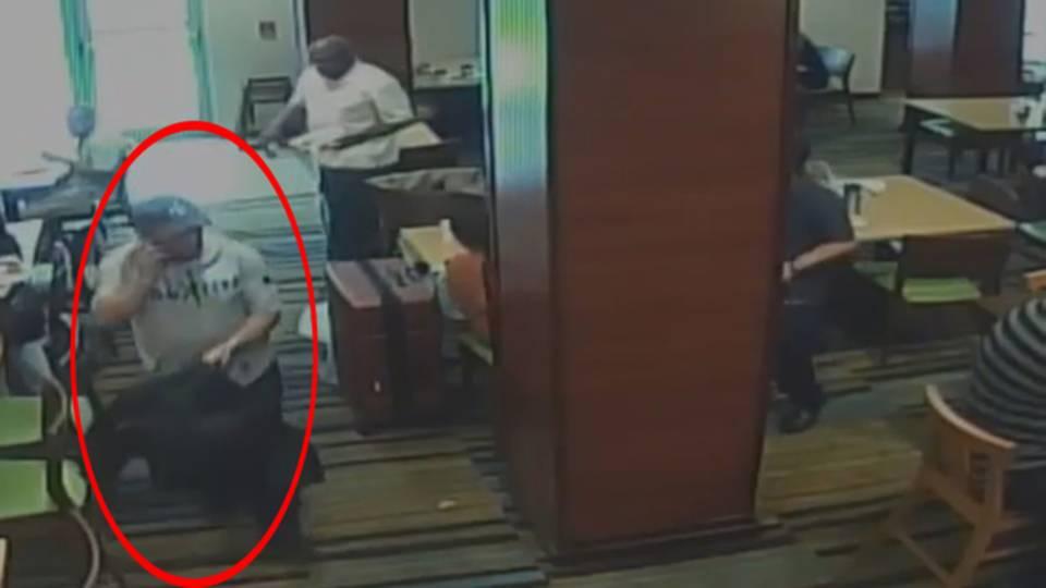 Man stealing purse at Dania Beach hotel
