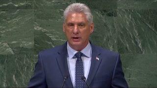 Cuban president denounces U.S. embargo as 'cruel' policy