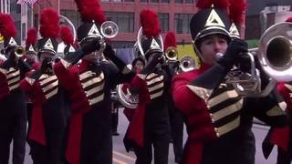 Troy Athens High School's Red Hawk Marching Band performs for national audience
