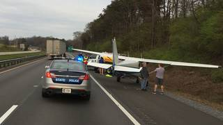 Small plane lands on I-81 near Virginia/Tennessee state line