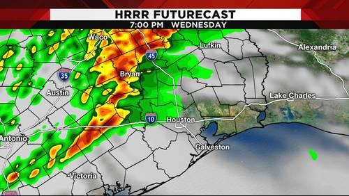 Heavy rain passes through Houston area