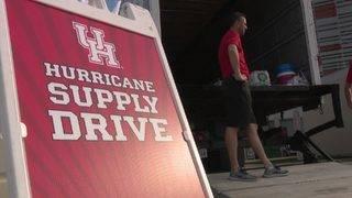 University of Houston athletics holds Hurricane Florence supply drive