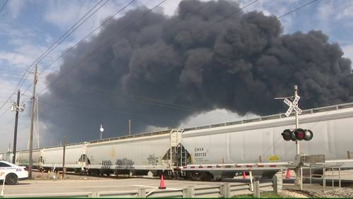 Fire destroys nearly all tanks at Deer Park ITC facility