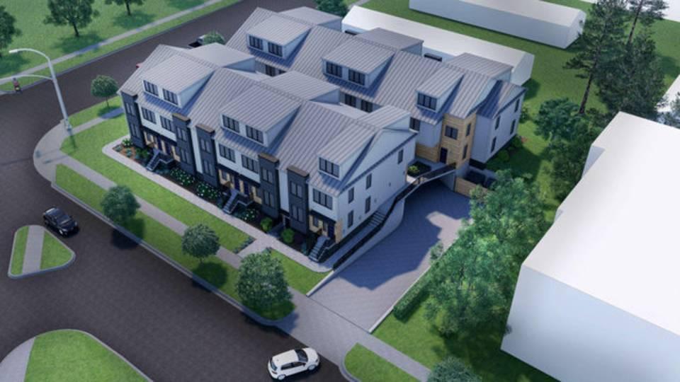 Henry Street Residential aerial driveway