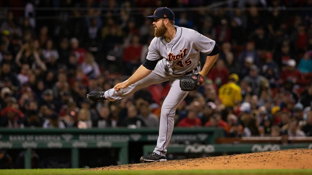 Buck Farmer Detroit Tigers vs Red Sox 2019