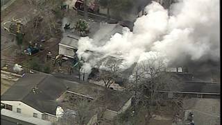 House goes up in flames in southeast Houston