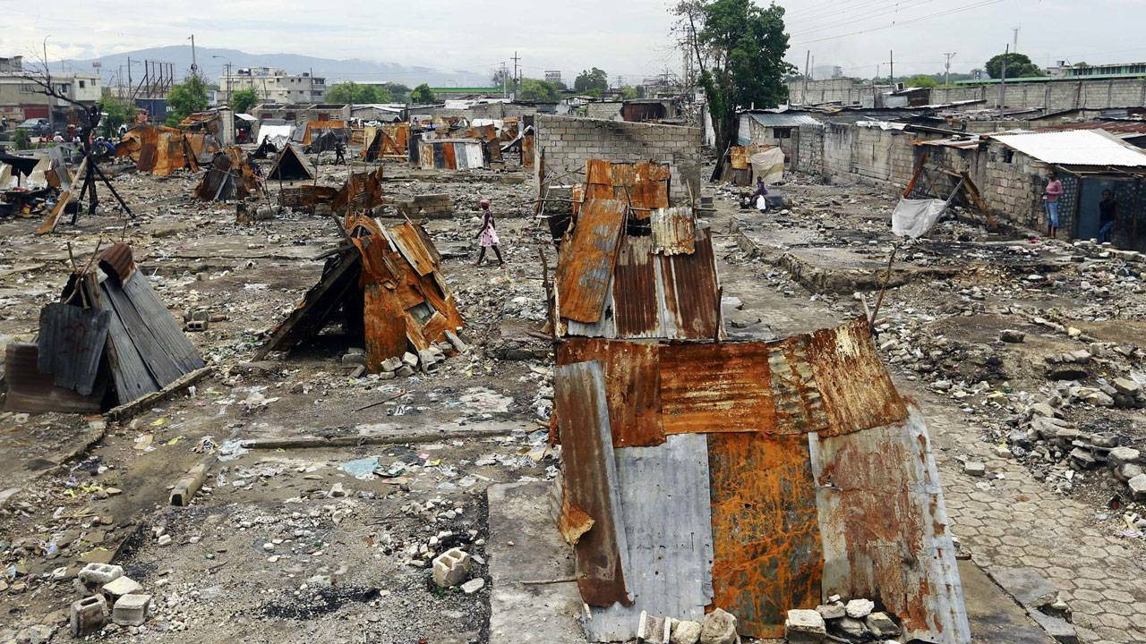 La Saline slum in Port-au-Prince Haiti