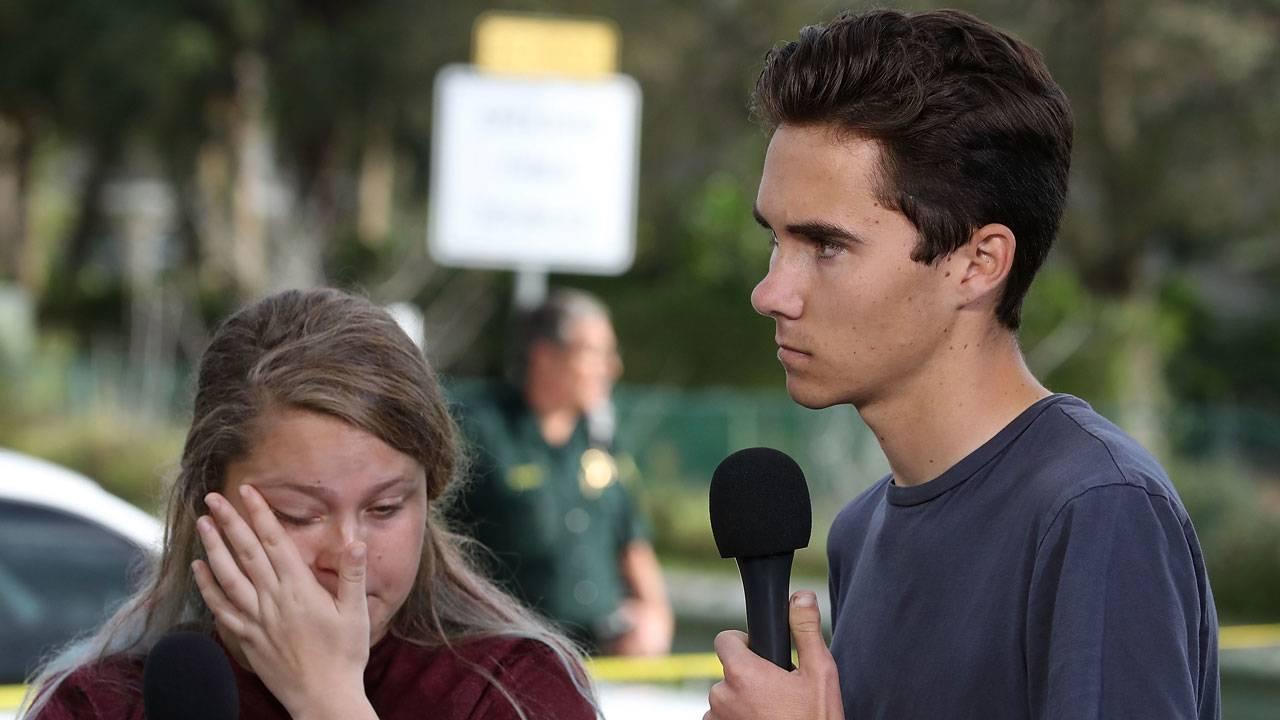 Gun control activism 1 Students Kelsey Friend and David Hogg