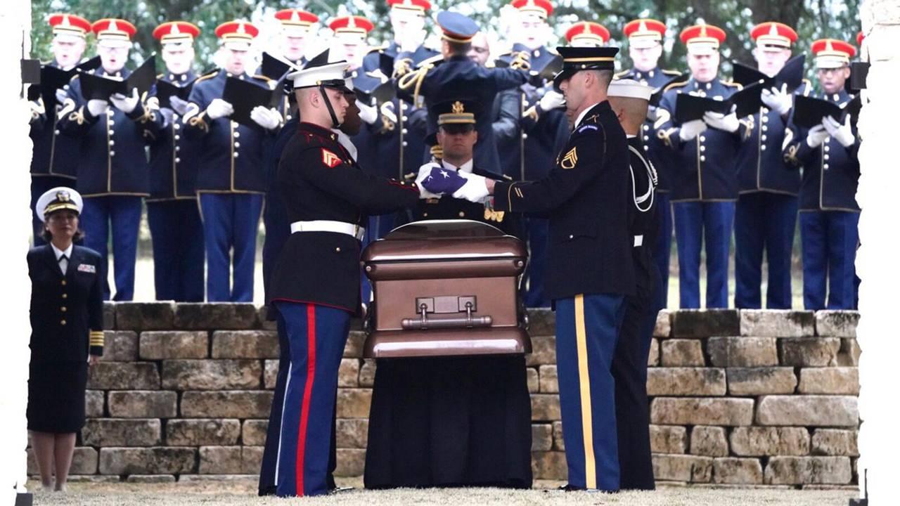 president george hw bush casket college station