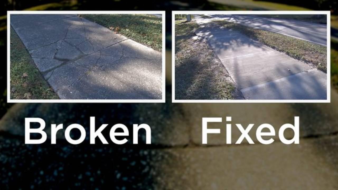 Broken Fixed side by side
