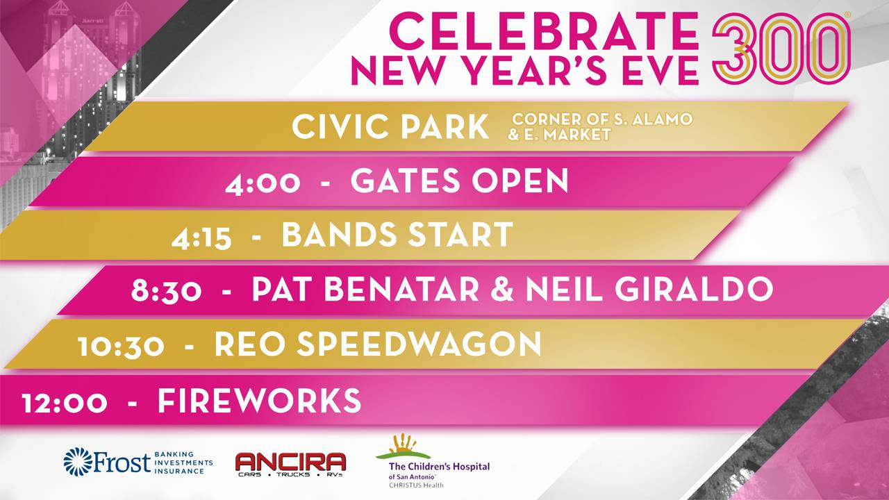 new years eve schedule SA 300