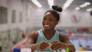 Building a gymnastics routine: Simone Biles recreates winning moves…