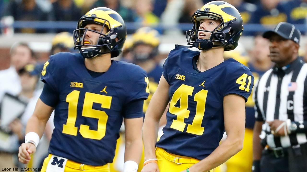 Garrett Moores and Ryan Tice Michigan football