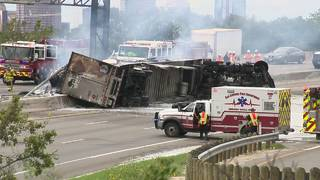 Plumbers rescue 18-wheeler driver from fiery wreck on Highway 281