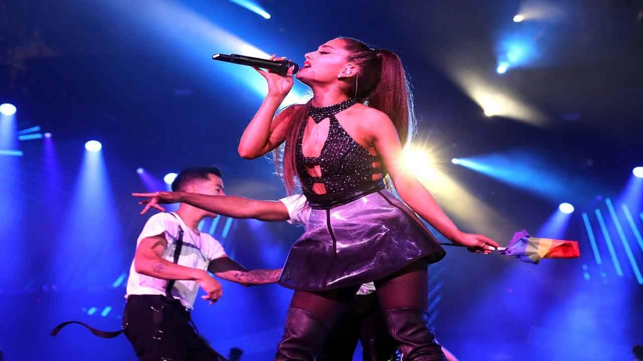 Ariana Grande performs June 2018