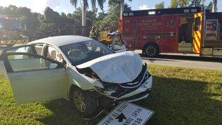 3 injured in crash during morning rush hour in Coconut Creek
