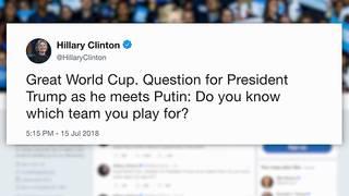 Clinton trolls Trump ahead of Putin summit