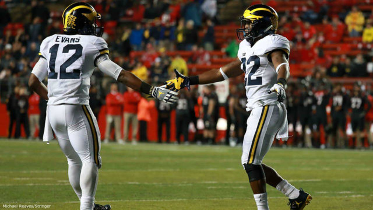 Chris Evans and Karan Higdon Michigan football vs Rutgers 2016