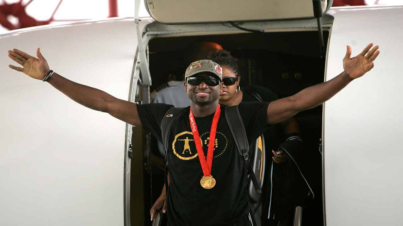 Dwyane Wade after winning 2008 Olympic gold medal