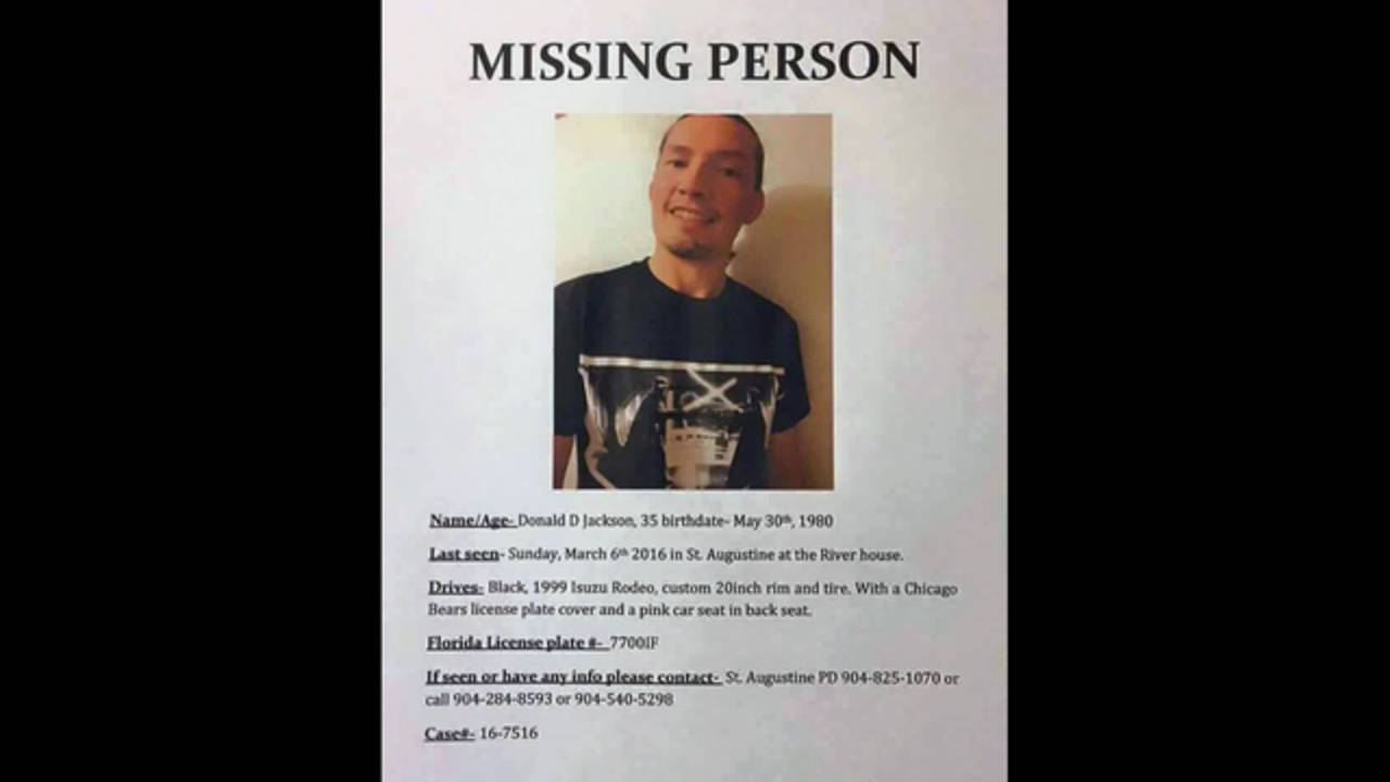 Donald Jackson missing poster
