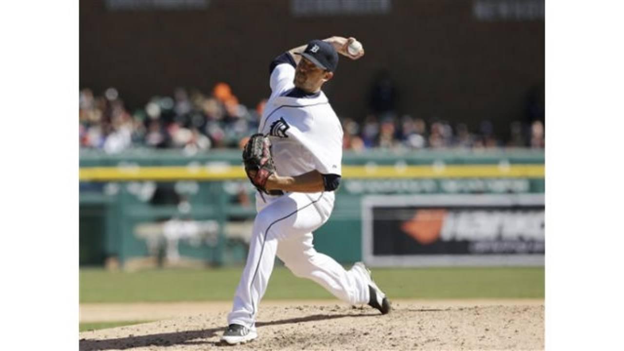 Detroit Tigers pitcher Evan Reed_25368816