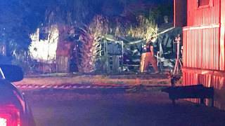 Crews battle mobile home fire in Panama Park