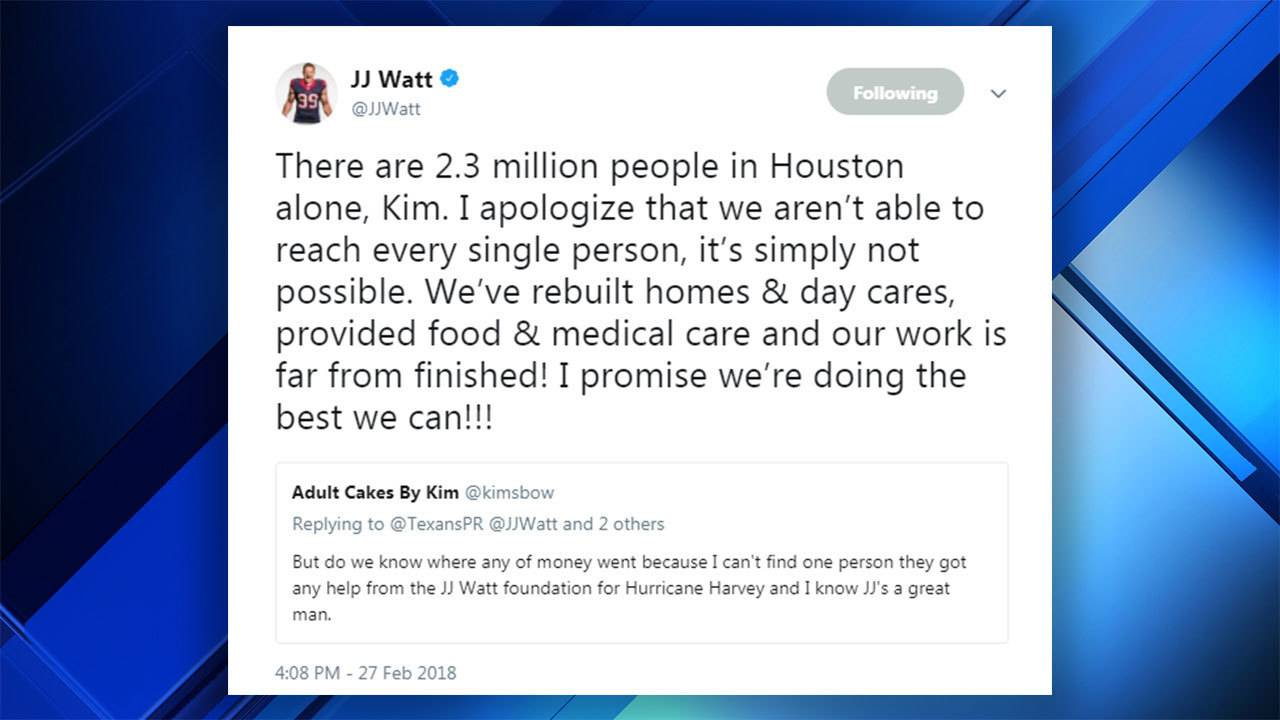 Woman Questions Where Jj Watts Harvey Donation Money Went