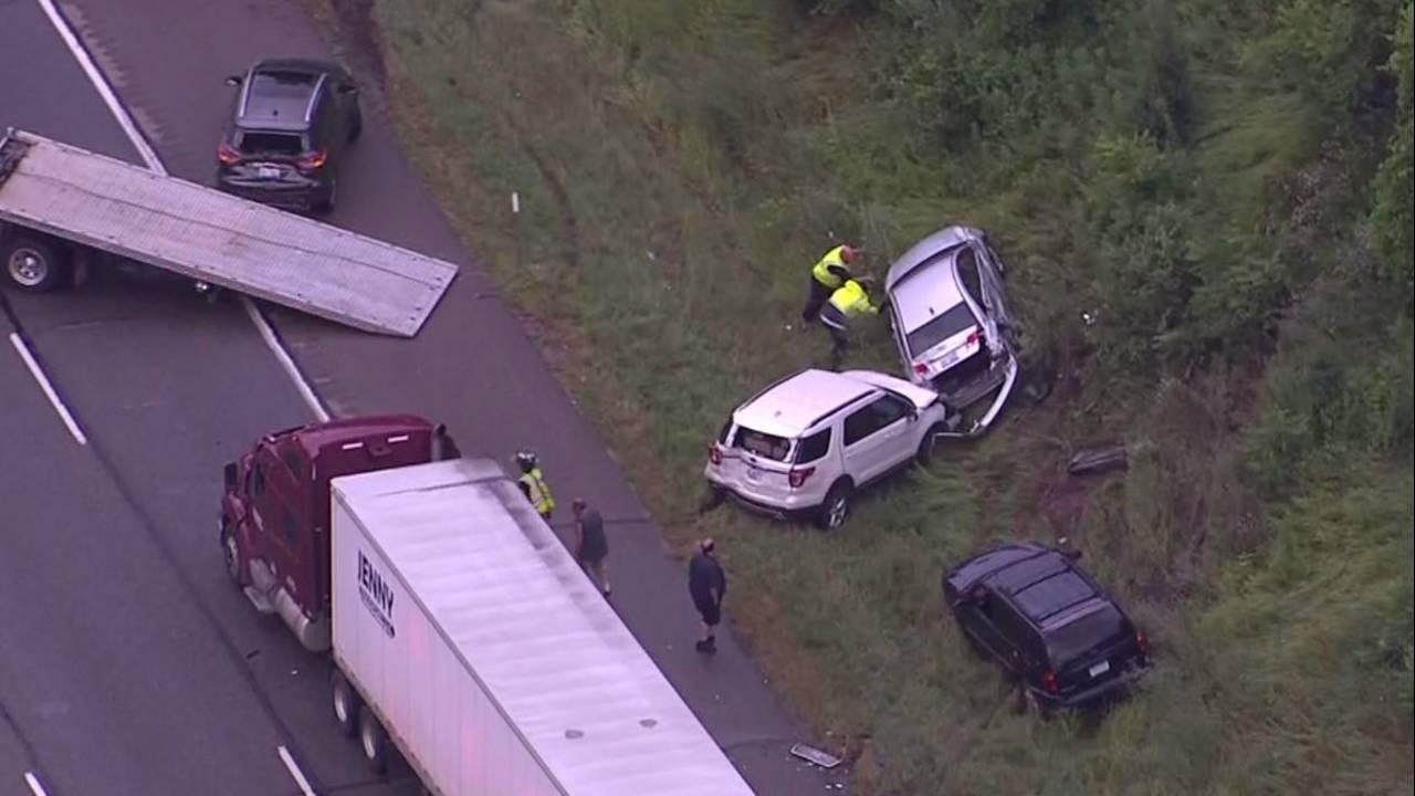 Crash involving 20 to 30 vehicles closed WB I-96 at