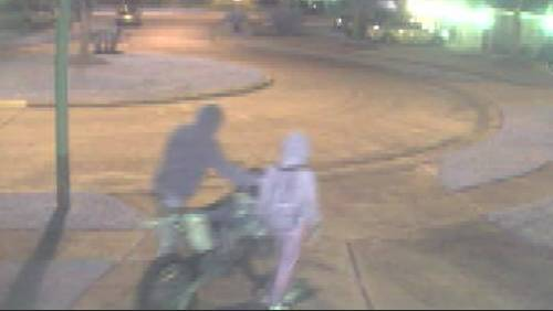 Surveillance video shows thief bringing child along for heist near Mission Bend