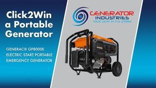CLICK2WIN: Portable Generator from Generator Industries