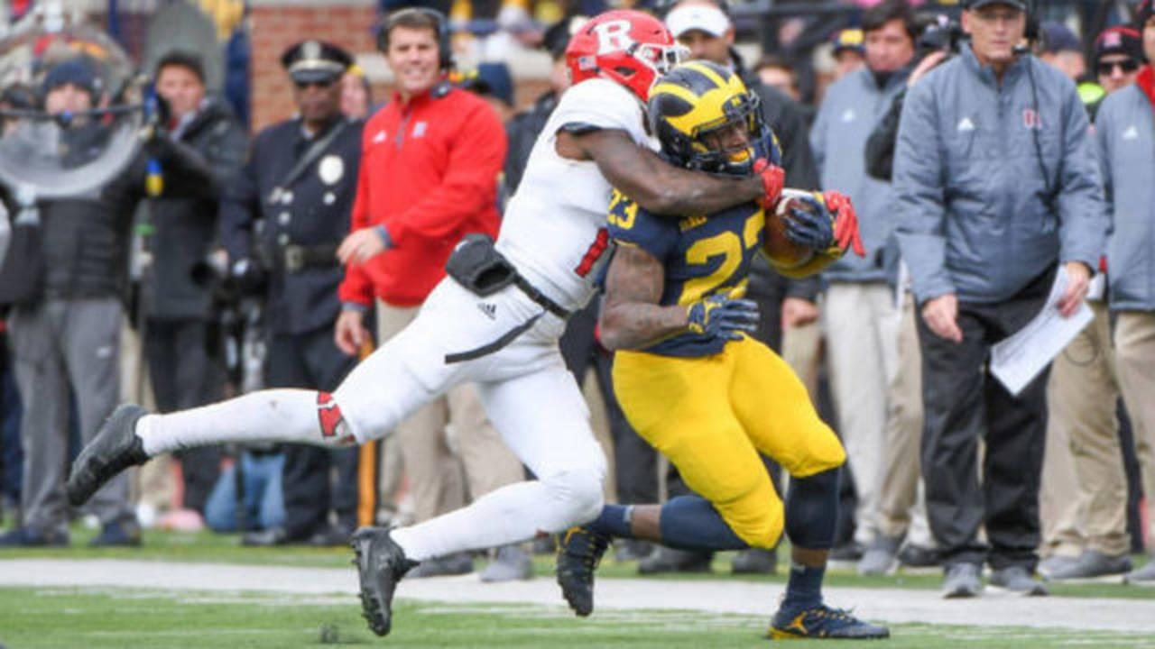 O'Maury Samuels Michigan football vs Rutgers 2017