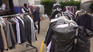 Hundreds of suits donated to veterans