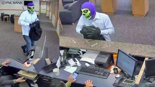 Man wearing skeleton wrestling mask robs Weston bank