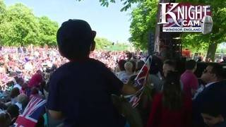 Thousands experience royal wedding outside Windsor Castle