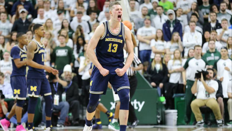 Moritz Wagner Mo Wagner Michigan basketball MSU 2018