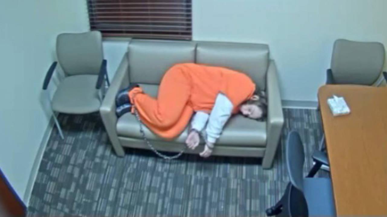 Kessler sleeping on couch