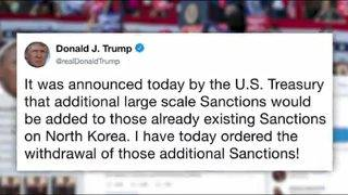 Trump withdraws new North Korea sanctions