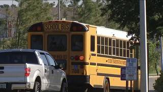 Woman killed in crash with school bus