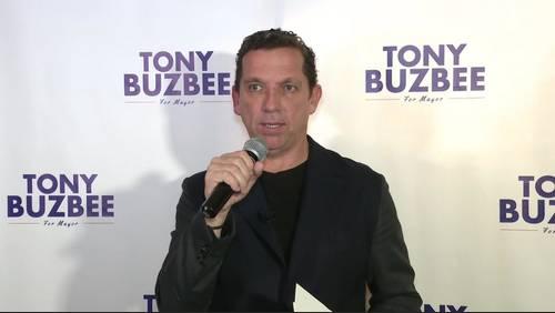 Tony Buzbee holds rally in mayoral push