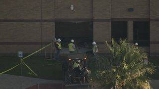 Employee crashes vehicle into Langham Creek High School