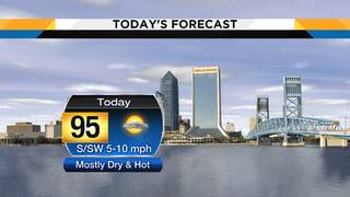 Sunday: Mostly dry skies until isolated storms develop