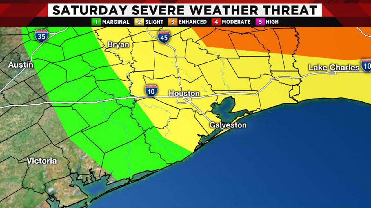 Saturday storm threat map 4-12-19